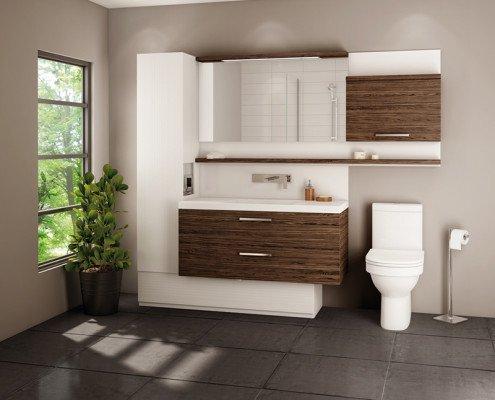 Modern Bathroom Renovation in Edmonton - Tiles and Vanities
